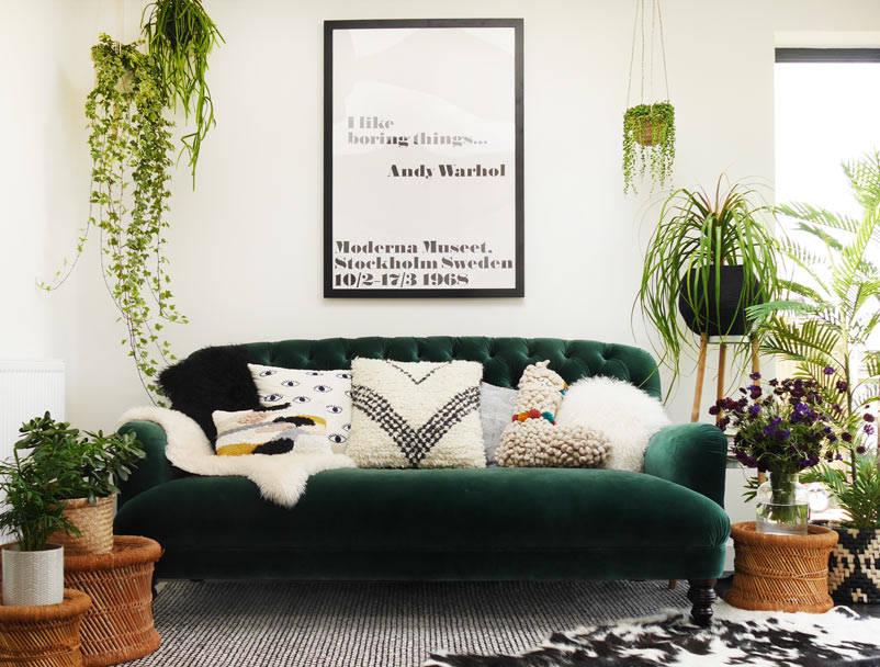 green velvet chesterfield DFS