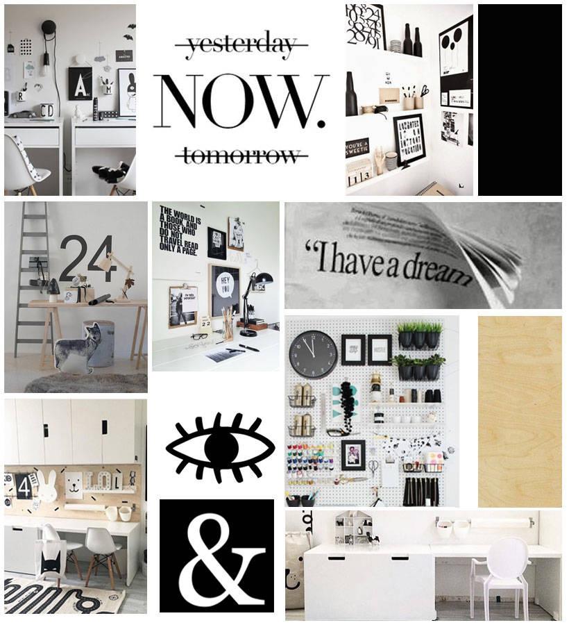 Monochrome Homework Station Ideas with Wayfair