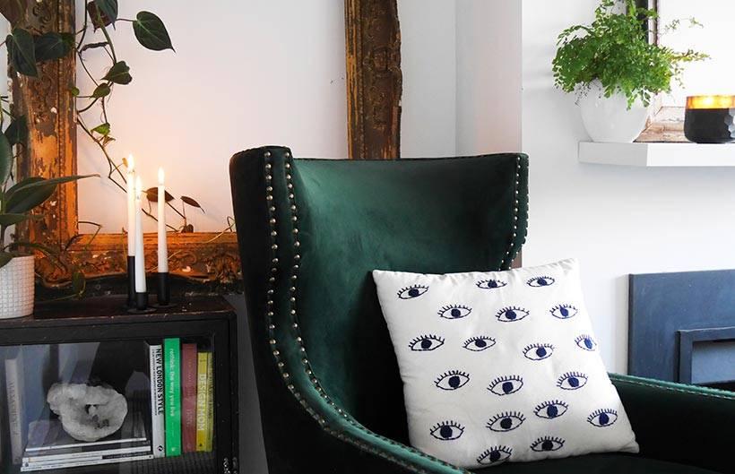 Wilton Armchair Green Velvet
